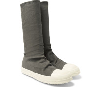 Blistered Stretch-nubuck Sneaker Boots