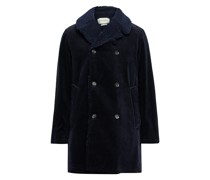 Newington Double-Breasted Faux Shearling-Lined Cotton-Corduroy Coat