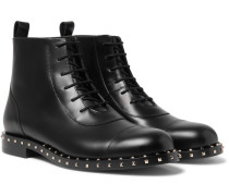 Soul Rockstud Polished-leather Boots
