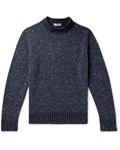 Donegal Merino Wool and Cashmere-Blend Mock-Neck Sweater