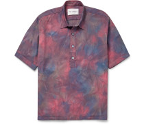 Tie-dyed Stretch-cotton Shirt
