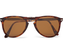 714 Foldable D-frame Tortoiseshell Acetate Sunglasses