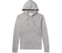 Mélange Loopback Cotton-jersey Hoodie