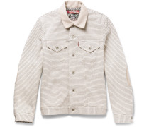 + Levi's Slim-fit Striped Loopback Cotton Jacket