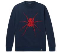 Beaded Loopback Cotton-jersey Sweatshirt