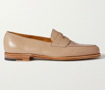 Lopez Textured-Leather Penny Loafers