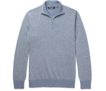 Slim-fit Roadster Striped Cashmere Half-zip Sweater