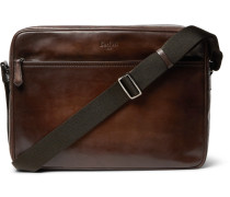 Plein Jour Scritto Polished-leather Messenger Bag