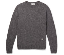 Nicol Embroidered Mélange Wool Sweater