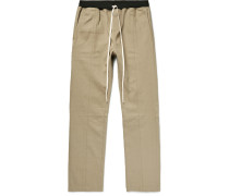 Selvedge Cotton-twill Drawstring Trousers