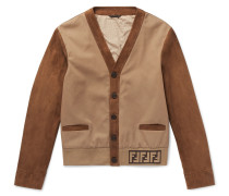 Twill-panelled Suede Jacket