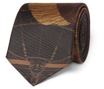 7cm Printed Silk Tie