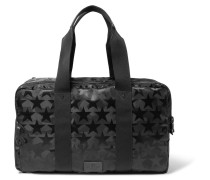 Leather-trimmed Star And Camouflage-patterned Canvas Holdall