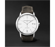 Classima Automatic 42mm Stainless Steel and Leather Watch, Ref. No. 10409