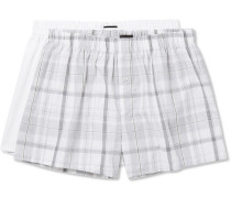 Two-pack Cotton-poplin Boxer Shorts