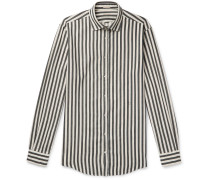 Canary Striped Cotton-Twill Shirt