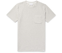 Niels Striped Cotton-terry T-shirt