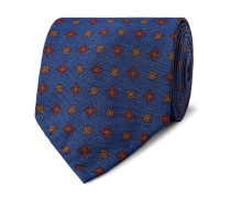 8cm Medallion-patterned Silk-twill Tie