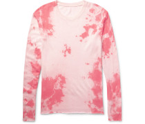Tie-dyed Knitted Cashmere And Silk-blend T-shirt