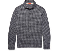 Slim-fit Gingham Cotton-flannel Shirt