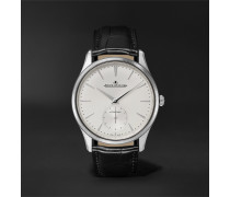 Master Ultra Thin Small Seconds Automatic 39mm Stainless Steel and Alligator Watch, Ref. No. Q1218420