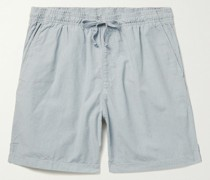 Easy Striped Cotton Drawstring Shorts