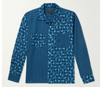 Convertible-Collar Printed Cotton Shirt