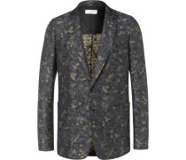 Linen And Cotton-blend Jacquard Suit Jacket