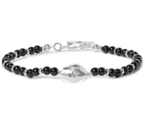 San Gennaro Silver-tone Onyx Bracelet