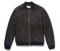 Mélange Wool-blend Bomber Jacket