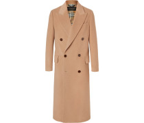 Runway Double-breasted Felted Camel Hair Coat