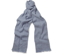 Dorset Flax And Cashmere-blend Scarf