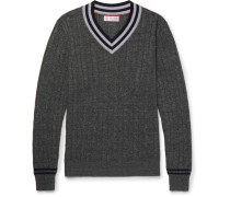 Slim-fit Cable-knit Linen And Cotton-blend Sweater