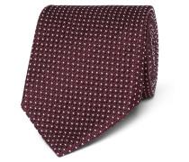 8cm Polka-dot Silk-blend Jacquard Tie