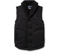 Faux Shearling-lined Cotton Gilet