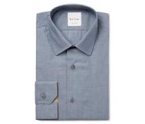 Blue Soho Slim-fit Cotton-chambray Shirt
