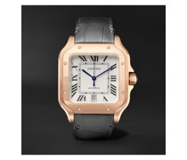 Santos Automatic 39.8mm 18-Karat Rose Gold Interchangeable Alligator and Leather Watch, Ref. No. WGSA0011