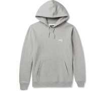 Fleece-back Cotton-jersey Hoodie