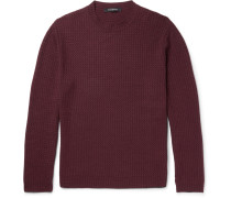 Wave-knit Wool, Silk And Cashmere-blend Sweater