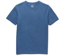 Broken-in Slim-fit Mélange Cotton-jersey T-shirt