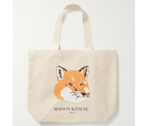 Logo-Print Cotton-Canvas Tote Bag
