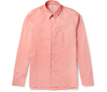 York Slim-fit Stretch-cotton Poplin Shirt