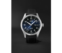 Big Crown ProPilot Big Day Date Automatic 44mm Stainless Steel and Leather Watch, Ref. No. 01 752 7760 4065-07 5 22 08LC