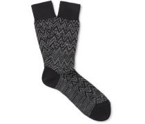 Patterned Cotton-blend Socks