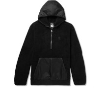 Nikelab Essentials Shell-panelled Fleece Half-zip Hoodie