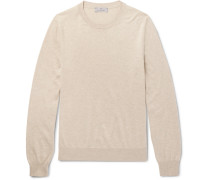 Slim-fit Cotton And Silk-blend Sweater