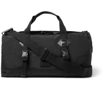 Leather-trimmed Canvas Dufflebag