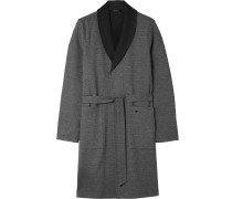 Davide Double-faced Brushed-cotton Robe