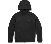 Aw77 Cotton-blend Tech Fleece Zip-up Hoodie