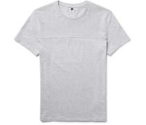 Corky Slim-fit Mélange Cotton-jersey And Piqué T-shirt
